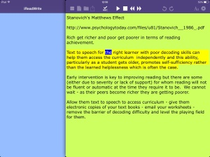ireadwrite for iPad